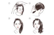 忙しい朝でも、髪の毛を流すだけでエレガントに。ワンサイドヘアのすすめ