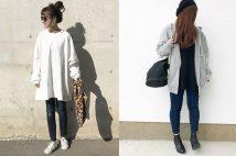 秋冬デニムパンツコーデ。ざっくりニットと合わせる?それともジャケット?