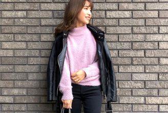 人気の黒&白から、パステルカラーまで。GUフェザーヤーンセーターの色別コーデ解説