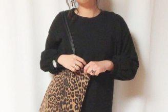 巾着からトートまで。秋冬レオパードバッグに似合うのは、ワントーンのカラーリングコーデ