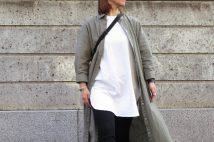 GUリネンブレンドシャツワンピースのコーデ。サイズ感&人気カラーも。