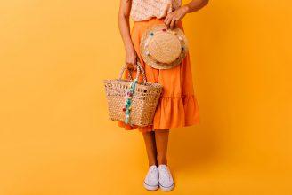 2019春夏トレンドカラー、オレンジカラーのスカートおすすめ