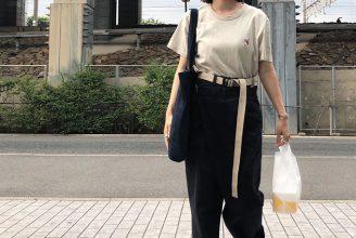 MAISON KITSUNÉ(メゾン キツネ)のTシャツコーデ。ベーシックなのに可愛い。