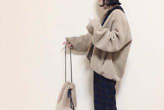 【ユニクロ】ボアフリースVネックフルジップカーディガンのコーデ。サイズ感も2019秋冬