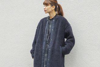【ユニクロ】ボアフリースノーカラーコートのコーデ。サイズ感も2019秋冬