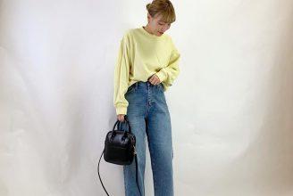 【ユニクロ】スウェットクルーネックシャツのコーデ。サイズ感も分かる2020春夏