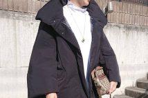 【ユニクロ×ジル・サンダー】ハイブリッドダウンジャケットのコーデ。サイズ感も