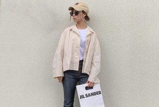【ユニクロ+J】オーバーサイズシャツジャケットのコーデ。サイズ感も