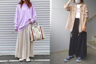 【ユニクロ】ワッシャーサテンスカートパンツのサイズ感&コーデを解説