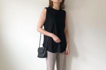 【ユニクロ】スムースコットンシャツテールTのサイズ感&コーデ